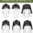 thumbnail of Black and white men polo shirts and t-shirts. Photo-realisti