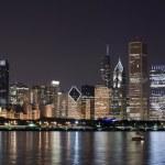 thumbnail of Night View at Downtown Chicago and lake Michigan