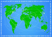 Vector illustration travel world map