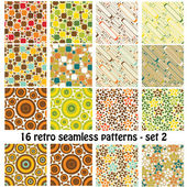Retro seamless patterns - set 2