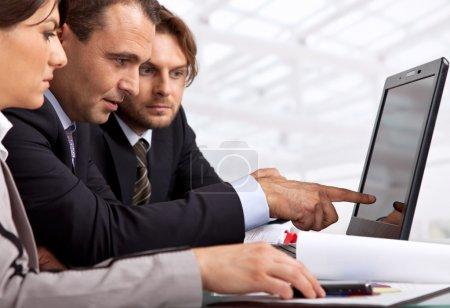 Three business working