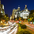 thumbnail of Traffic in night Madrid