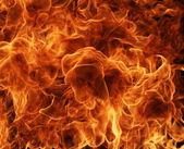 Detail plameny ohně