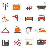 Hotel or accommodation icon set