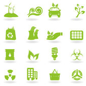 Eco and green environment icons