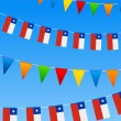 thumbnail of Chile Bunting flags
