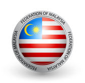 Vector illustration of a badge with the flag of Federation of Malaysia