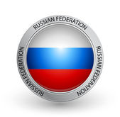 Vector illustration of a badge with the flag of Russian Federation