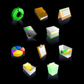 A set of 10 vector business icons