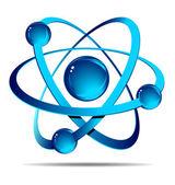 Atom na bílém pozadí