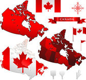 Canada world map