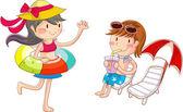 A strandon a gyermekek