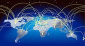 World trade map background