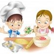 thumbnail of two children having fun in the kitchen
