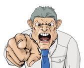 Mobbing Chef schreien und zeigen