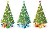 Cartoon illustration of Christmas tree in 3 color versions No transparency used Basic (linear) gradients