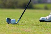 Golfista v golfové hřiště