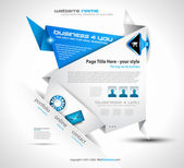 Origami Website - Elegant Design for Business Presentations Template with a lot of design elements Every Shadow is transparent