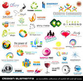 Mega collection of 2D and 3D quality design elements with a lot of variety ideal for business flyer and presentation
