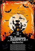 Sugestivní hallowen strana letáku pro zábavu