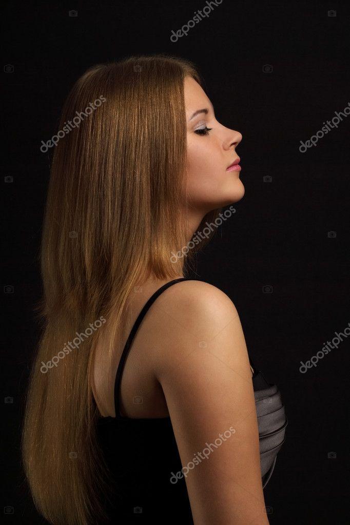 Girl with beauty long hair