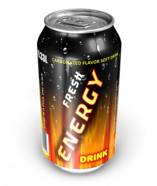 Energy drink in metal can