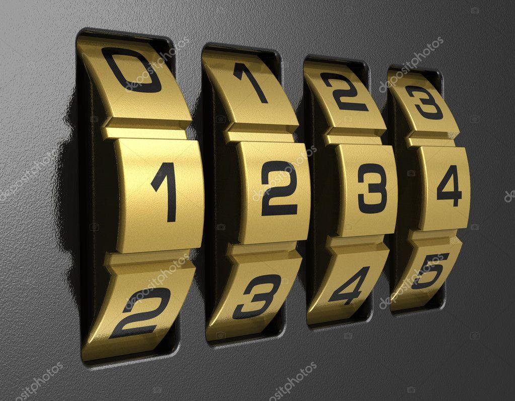 4-digit combination lock
