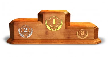 Wooden pedestal for trophies