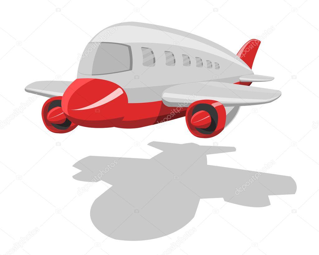 Aeroplano di cartone animato vettoriale u2014 vettoriali stock