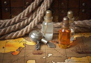 Vials of perfume oils