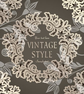 Vintage background with anemones