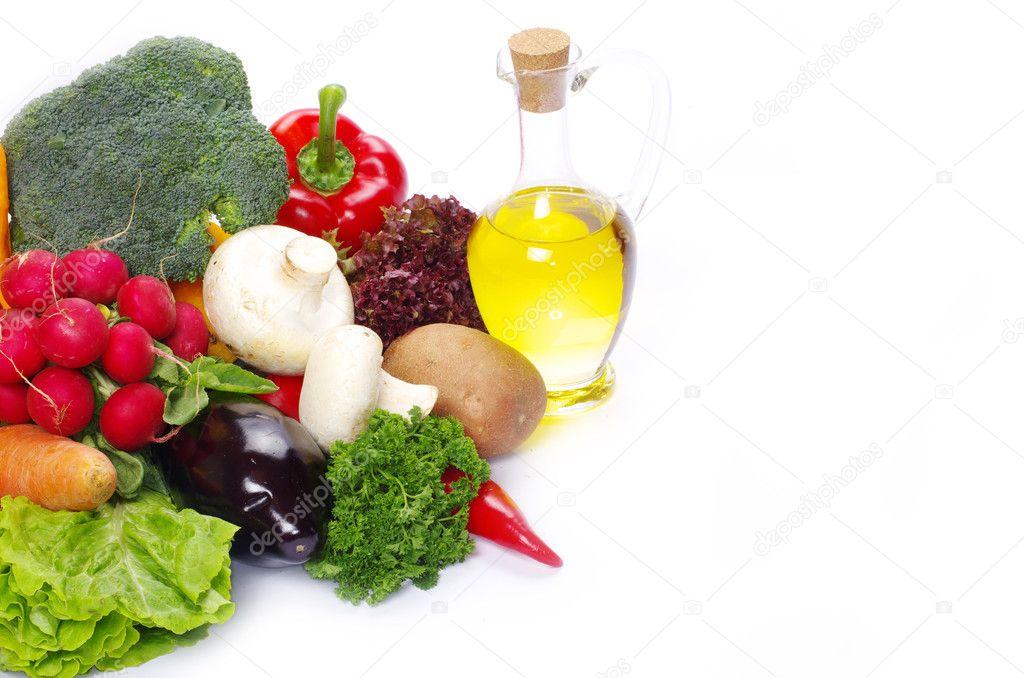 Vegetable on white