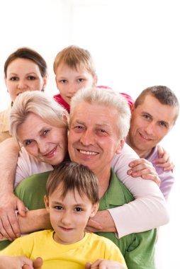 Happy family of six
