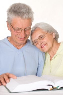 Happy elderly couple together