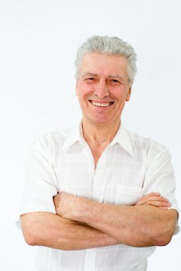 Man on a white