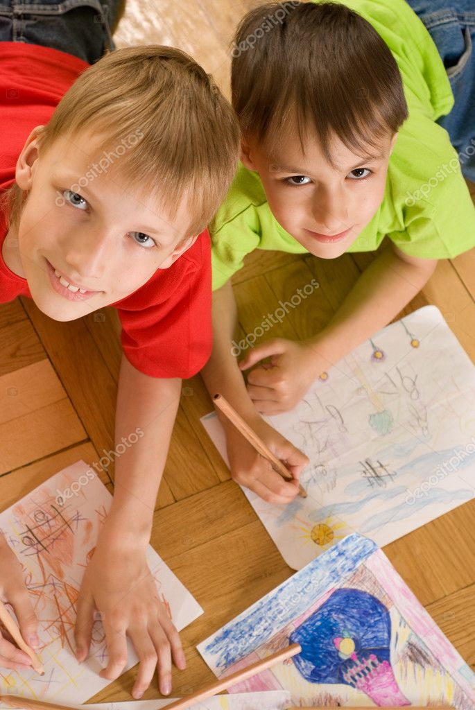 Two Brothers Draw Stock Photo C Privilege 5510576