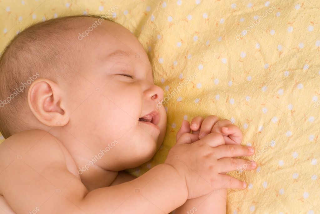Happy baby sleeping