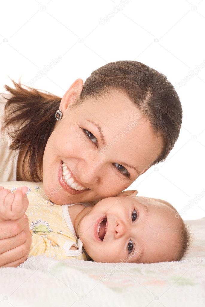 Nice mom and baby