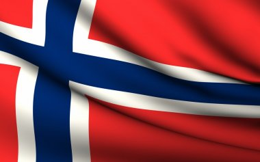 Flying Flag of Norway . All Countries Collection .