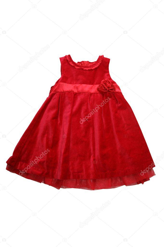 Vestido Rojo Para Niña Foto De Stock Alexalexl 6187971