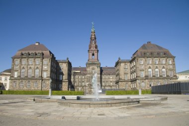 View on the Christiansborg Palace, Copenhagen, Denmark stock vector