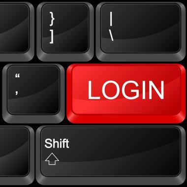 computer button login