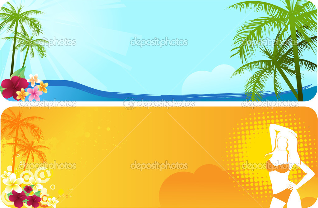 Two summer banners