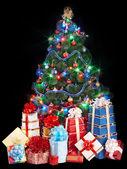 vánoční stromeček s hromadou Dárková krabice.