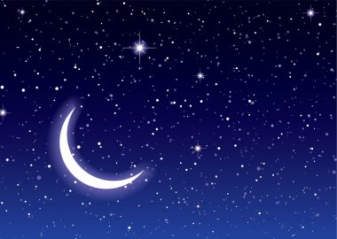 Space moon sky