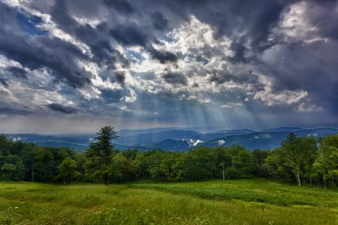 Storm over Blue Ridge Mountains