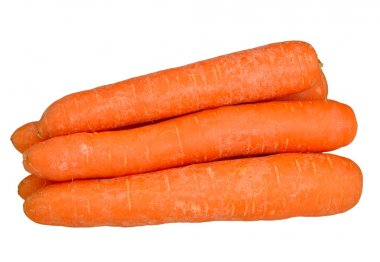Carrots on a white