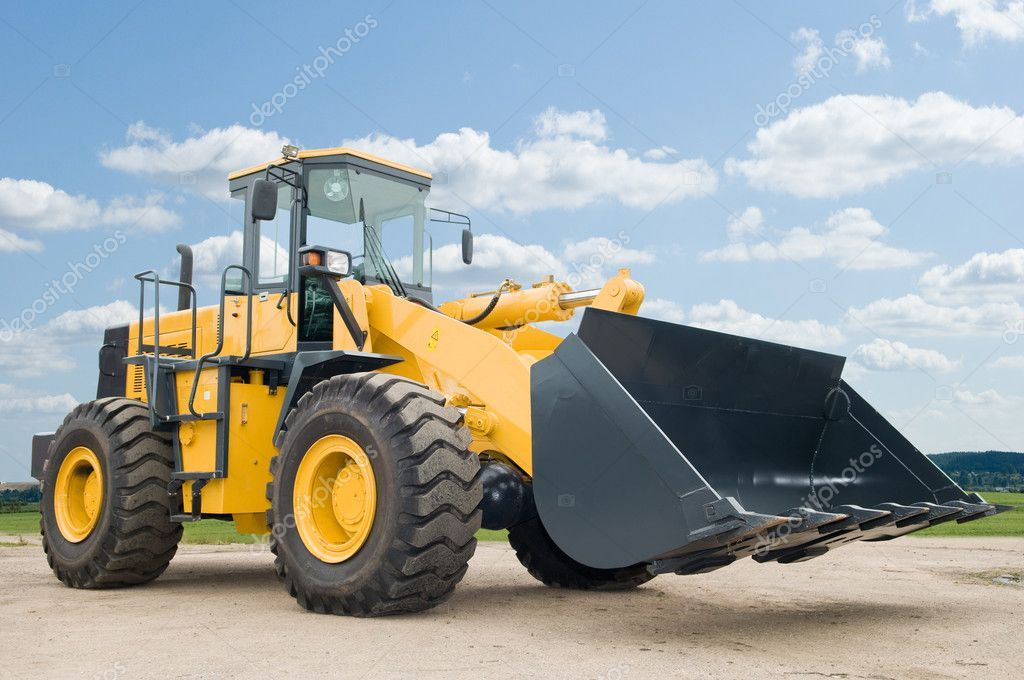 Front end loader machine — Stock Photo © kalinovsky #5418421