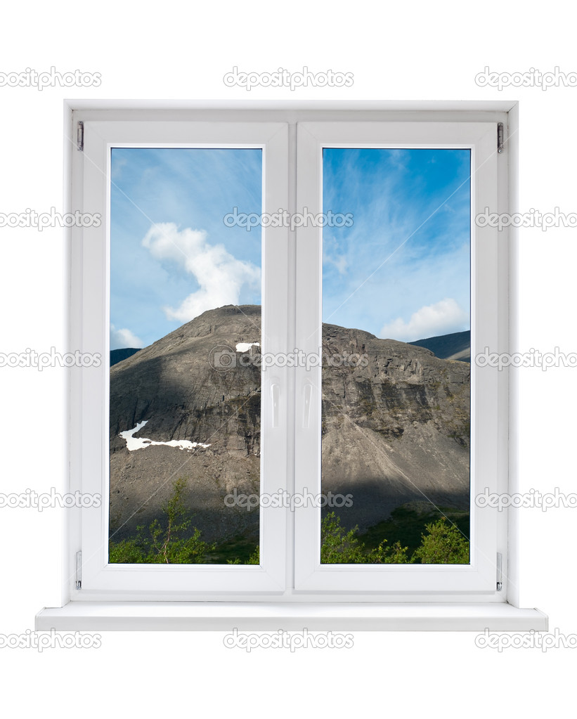 Wei e kunststoff doppel t r fenster mit aussicht - Fenster mit aussicht ...