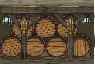 An old wine barrels